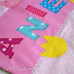 bawełniana poszewka na poduszkę z imieniem - personalizowana