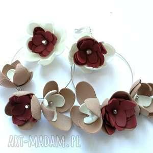 klipsy lekkie kwiatowe boho kolorowe folk, kwiaty, koła, lekkie, duże, etno