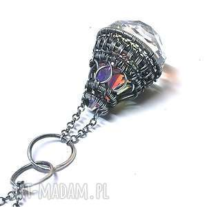 raindrop-wisior z kryształem swarovski, wisior, naszyjnik, kryształ