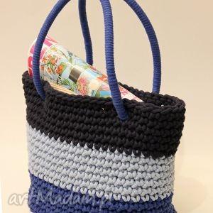 koszyk na ramię blue jeans, torba, dziergany, kosz, plażowy, sznurek, siatka