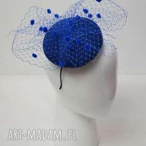 ręcznie robione ozdoby do włosów kobaltowa dama