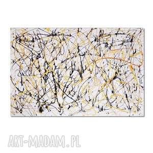 entropia, abstrakcja, nowoczesny obraz ręcznie malowany, obraz, ręcznie, malowany