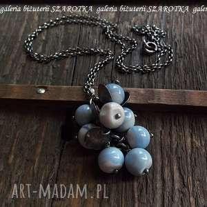 ręcznie robione naszyjniki niebiańska niebieskość naszyjnik z opala i srebra
