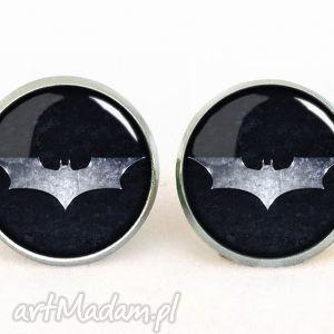 batman - kolczyki sztyfty - srebrne kolczyki, superbohater, wkręty