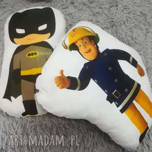 Komplet poduszek dla chłopca, sam, strażak, batman