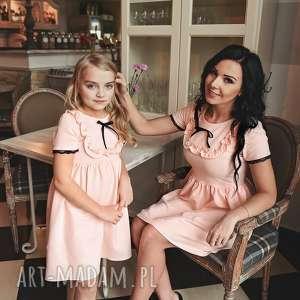 ręczne wykonanie latori - sukienka dziewczęca z kolekcji mama i córka dla córki ld44/2