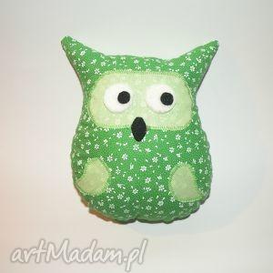 maskotki zielona sówka, poduszka, poducha, przytulanka, sowa