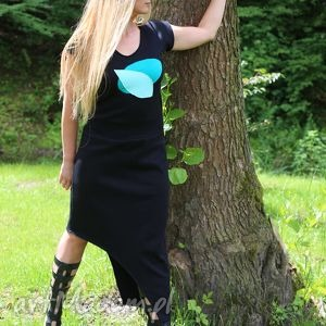 Walking to the sun sukienki ququ design asymetryczna, czarna