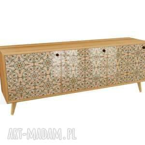 hand-made dekoracje happy mandala - modna komoda 3 drzwiowa loft w stylu mid century /