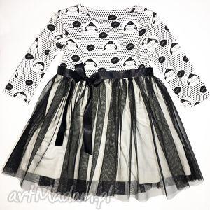 sukienka owieczki 110 - sukienka, 110, owieczki, tiulowa, tiulu