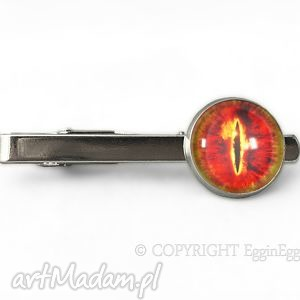 hand made męska oko saurona - spinka do krawata