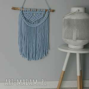 handmade dodatki niebieska makrama
