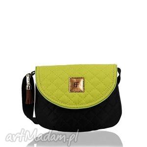 torebka dla dziewczynki 242 sweet love czarno-limonkowa, torebeczka, dziecinna