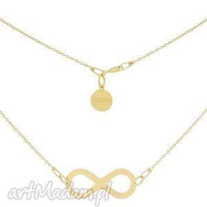 złoty naszyjnik z symbolem nieskończoości - jaskółka