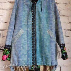 wiosenny płaszcz folk design - folk