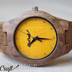 ręcznie robione zegarki damski drewniany zegarek canary diamond