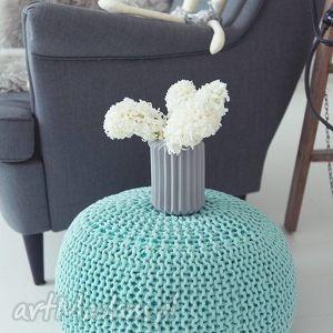 handmade pokoik dziecka pufa ze sznurka bawełnianego