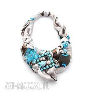 FLOW naszyjnik handmade, naszyjnik, kolia, kolorowy, wielobarwny, błękit
