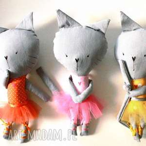 hand-made maskotki kieszonkowa koteczka. balerina.
