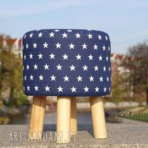 pufa niebieskie gwiazdki - 36 cm, puf, pufa, taboret, stołek, ryczka, hocker