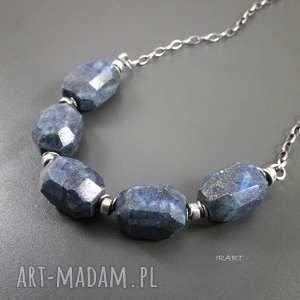 bryłki lapis lazuli, lapis, naszyjnik naszyjniki
