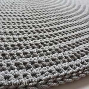 dom okrągły dywan ze sznurka bawełnianego 130 cm śr