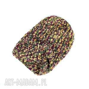 Prezent Kolorowa czapka wełna unisex, czapka, wełna, ciepła, prezent