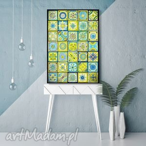 mozaika a3, mozaika, marokański, obraz, plakat, rysunek dom