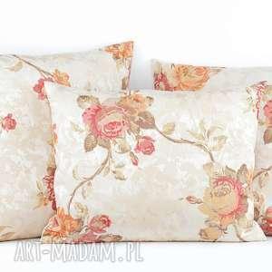 poduszki komplet poduszek dekoracyjnych rose - 3 sztuki, poduszki, poduszka, poszewka