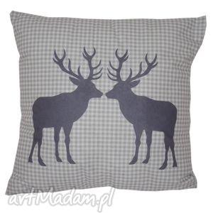 hand-made pomysł na prezent poduszka dekoracyjna dwa jelenie