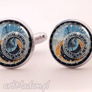 zegar praski - spinki do makietów - steampunk, zegar, chłopak, prezent, męska