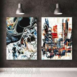 zestaw 2 plakatów abstrakcja #3 a3, abtrakcja, plakat, obraz, dekoracje
