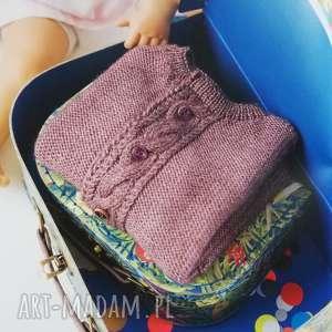 Prezent Sweterek Almeria, sweterek, jedwab, alpaka, prezent, dziewczynka, dziergany