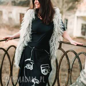 Face to sukienka sukienki ququ design maxi sukienka, aplikacja