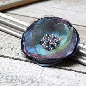 Elegancka broszka przypinka KWIATEK, broszka, przypinka, tkanina, kwiatek, kolorowa