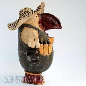 ceramika ceramiczna rzeźba - ogrodnik, ceramika, rzeźba, piórnik, unikatowe