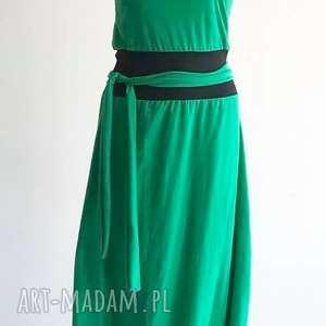 green point-kombinezon sukienka, boho spodium, folk kombinezon, spodnie, letni