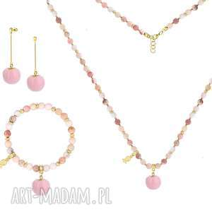 zamówienie specjalne - łańcuszek, kamień, pompon, opal