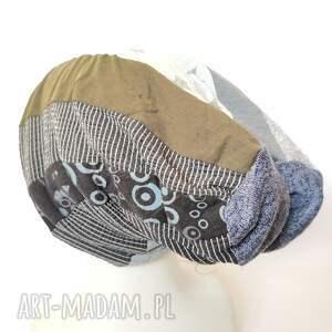 ręcznie zrobione czapki czapka damska patchworkowa na podszewce uniwersalna box