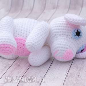 Prezent Miś Lulek mini przytulanka maskotka, amigurumi, zabawka, maskotka