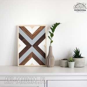 drewniany panel dekoracyjny - mozaika, drewniany, ścienny, panel, dekoracja