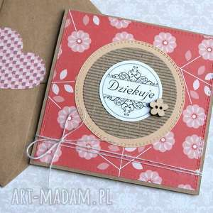 handmade kartki dziękuję: kartka handmade:: podziękowanie