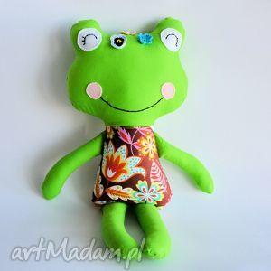 panna żabka - ofelia 46 cm, żabka, dziewczynka, maskotka, kotek, chrzciny, roczek