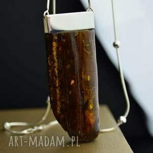 barbara fedorczyk naszyjnik z bursztynem inkluzjami srebro