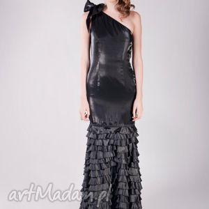 sukienki black ruffels 36 - suknia wieczorowa, suknia, moda, falbany
