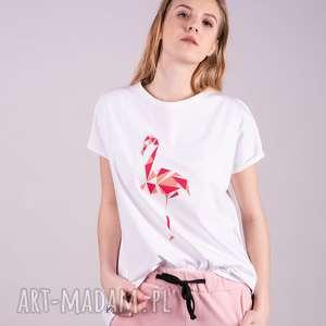 t-shirt z nadrukiem autorskim-biały, bluzki, sukienki, kurtki, bluzy, spodnie, t