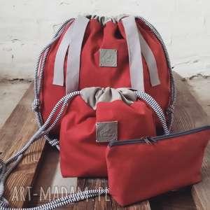 Tashpack cegła & amber aztec / tkaninowy zestaw toreb, zestaw, torby, worki, sportowe