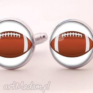 egginegg football - spinki do mankietów - pomarańczowe, amerykański