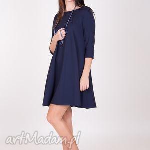 handmade sukienki 7 - sukienka granatowa