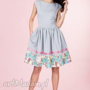 sukienki rozkloszowana sukienka w kwiaty provance, sukienka, rozkloszowana